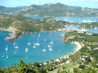Antigua English Harbour from Shirley Heights