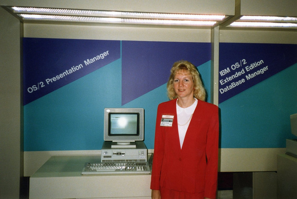 Yep, suits, every day, until we instigated Casual Friday's in the late 80's.  Check out the PS/2 system too.  NY PC Expo