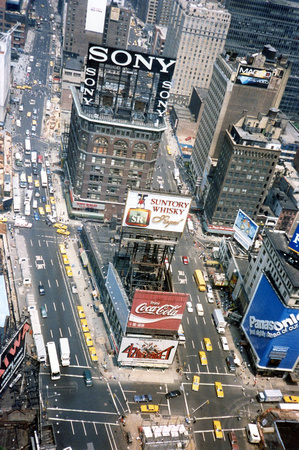 My first IBM business trip, Time Square, NY, PC Expo 1988